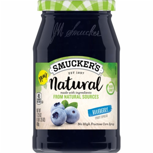 Smucker's Natural Blueberry Fruit Spread Perspective: front