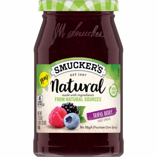 Smucker's Natural Triple Berry Fruit Spread Perspective: front