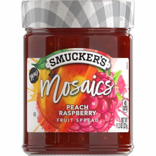 Smucker's Mosaics Peach Raspberry Fruit Spread Perspective: front