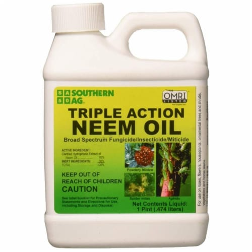 Southern Ag 8722 1 Pint Triple Action Organic Neem Oil - Pack of 12 Perspective: front