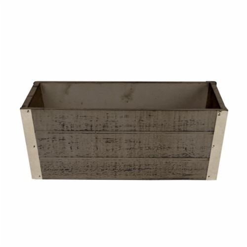 Wald Imports 13.5 in. Distressed Wood Planter Perspective: front
