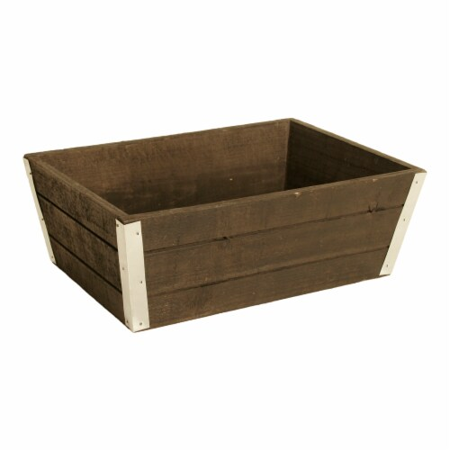 Wald Imports 10.5 in. Distressed Wood Planter Perspective: front