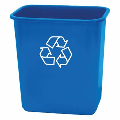 United Solutions Recycling Waste Basket - Blue Perspective: front