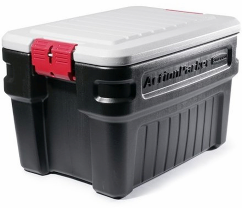 Rubbermaid® ActionPacker® Storage Tote - Black Perspective: front