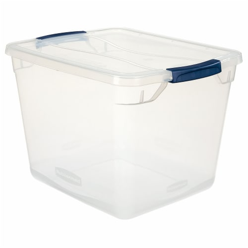 Rubbermaid Cleverstore Storage Tote - Clear Perspective: front