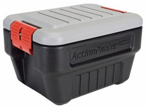 Rubbermaid ActionPacker® Storage Box - Black Perspective: front