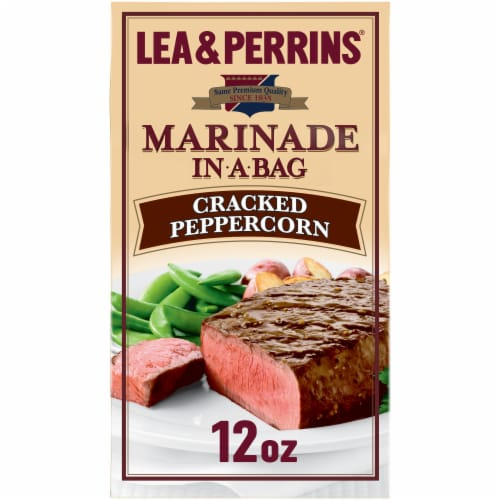 Lea & Perrins Cracked Peppercorn Marinade Perspective: front