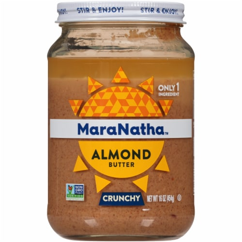 MaraNatha Crunchy Roasted Almond Butter Perspective: front