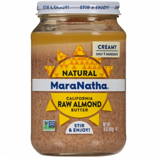MaraNatha Creamy Raw California Almond Butter Perspective: front