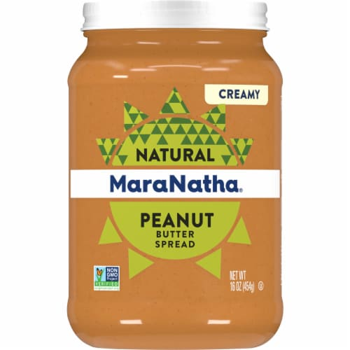 MaraNatha No Stir Creamy Peanut Butter Perspective: front