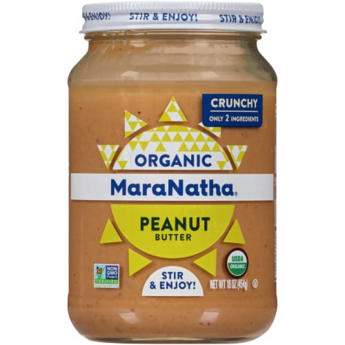 MaraNatha Crunchy Roasted Peanut Butter Perspective: front