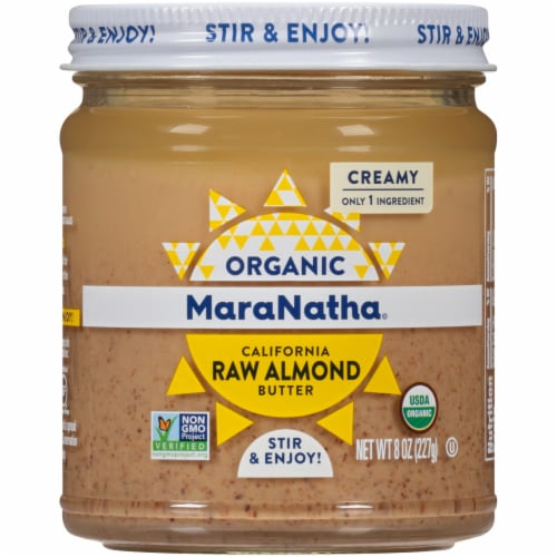 Maranatha Organic Raw Creamy Almond Butter Perspective: front