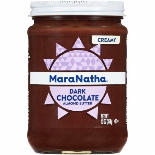 MaraNatha Creamy Dark Chocolate Almond Butter Spread Perspective: front