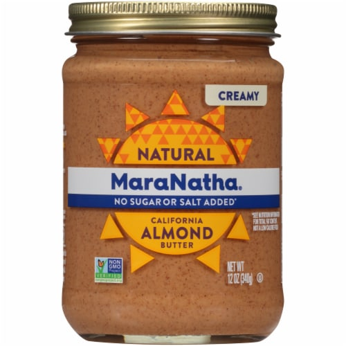 MaraNatha No Salt or Sugar Added Creamy Almond Butter Perspective: front