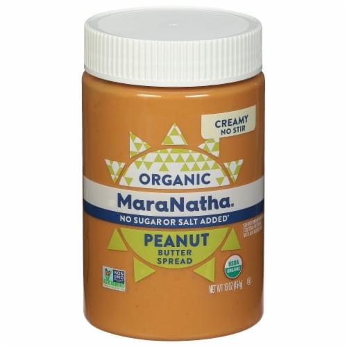 NaraNatha Organic No Sugar or Salt Added Creamy Peanut Butter Perspective: front