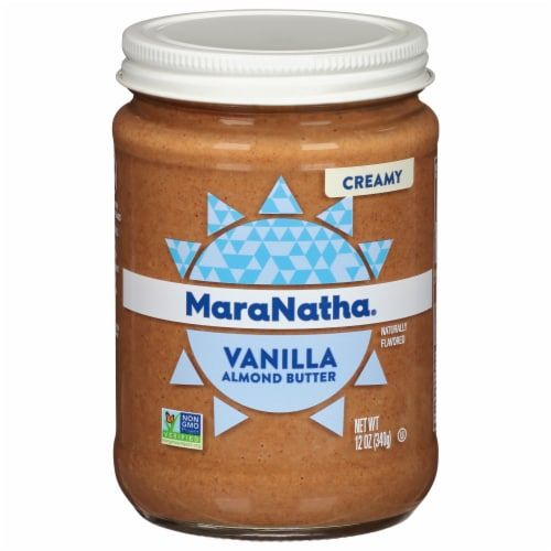 MaraNatha Vanilla Raw Almond Butter Perspective: front