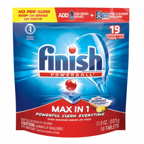 Finish Powerball Max in 1 Dishwashing Tablets Perspective: front