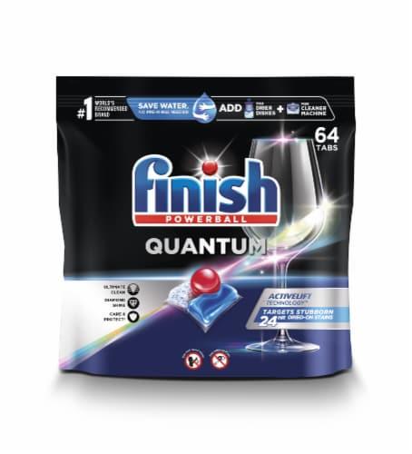 Finish Powerball Quantum Dish Detergent Perspective: front