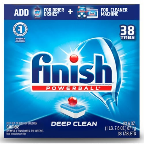Finish Powerball Deep Clean Dishwashing Tablets Perspective: front