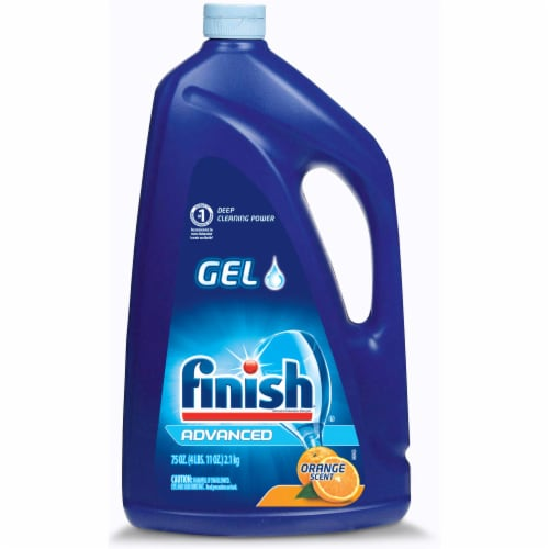 Finish Advanced Orange Scent Gel Dishwasher Detergent Perspective: front