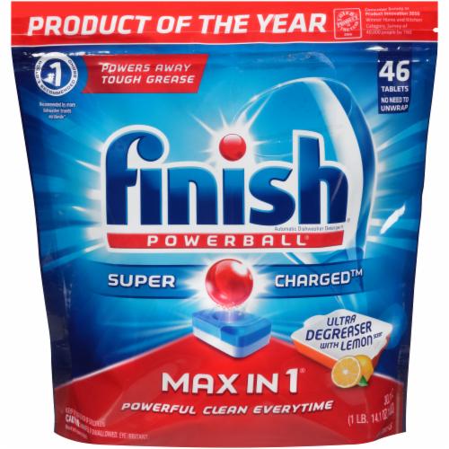 finish dishwasher tablets all in 1 max lemon