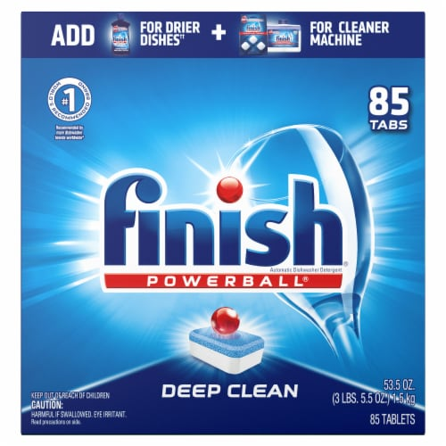 Finish Powerball Fresh Scent Dishwasher Detergent Tablets Perspective: front