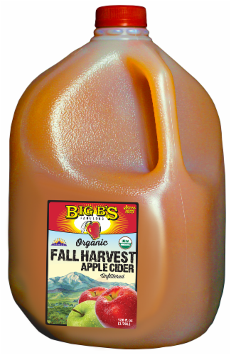 Big B's Organic Fall Harvest Apple Cider Perspective: front