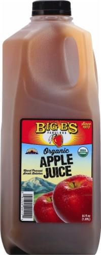Big B's Organic Apple Juice Perspective: front