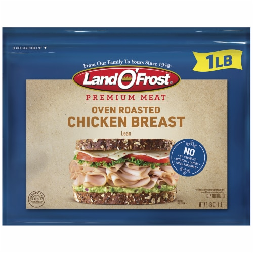 Land O' Frost Premium Oven Roasted Chicken Breast Perspective: front