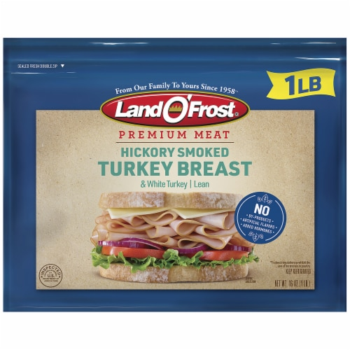 Land O' Frost Premium Hickory Smoked Turkey Breast Lunch Meat Perspective: front