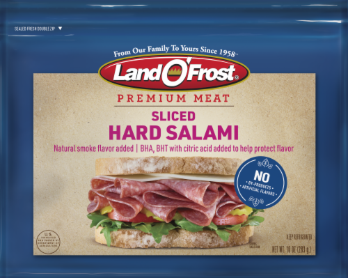 Land O' Frost Premium Hard Salami Lunch Meat Perspective: front
