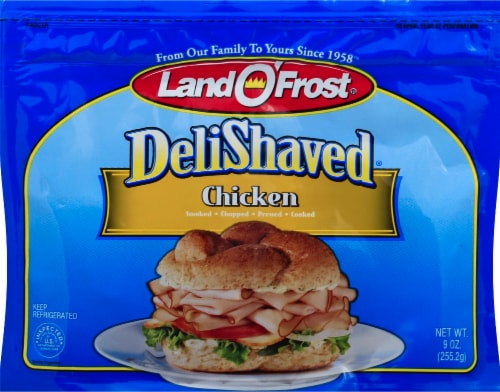 Land O' Frost Deli Shaved Chicken Perspective: front