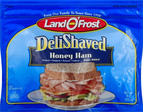 Land O' Frost Deli Shaved Honey Ham Perspective: front