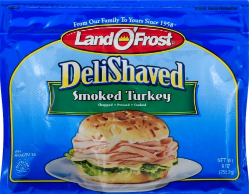 Land O' Frost Deli Shaved Smoked Turkey Perspective: front