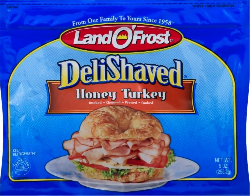 Land O'Frost Deli Shaved Honey Turkey Perspective: front