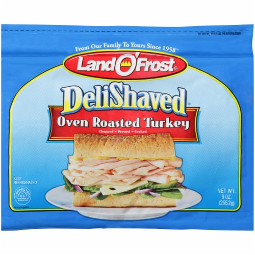 Land O' Frost Deli Shaved Oven Roasted Turkey Perspective: front