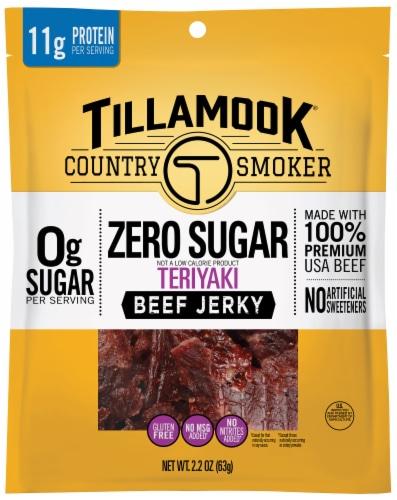 Tillamook Zero Sugar Teriyaki Beef Jerky Perspective: front