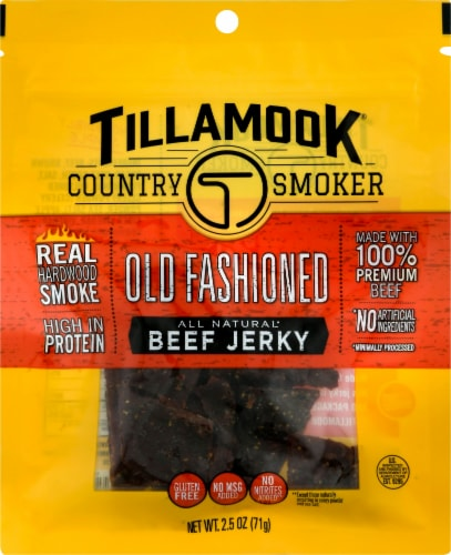Tillamook Country Smoker Gluten Free Old Fashioned Beef Jerky Perspective: front