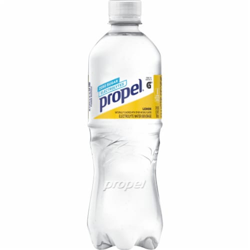 Propel Water Zero Calorie Sports Drink Enhanced with Electrolytes  Vitamins C & E - Lemon Perspective: front