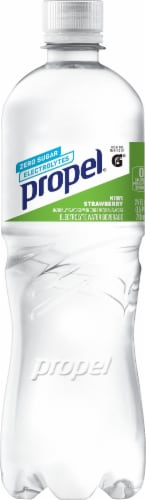 Propel Water Zero Calorie Sports Drink Enhanced with Electrolytes Vitamins C & E - Kiwi Strawberry Perspective: front