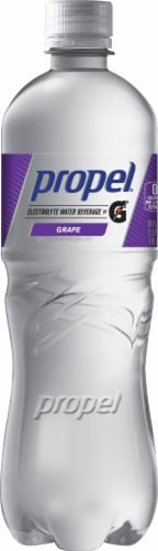 Propel Water Zero Calorie Sports Drink Enhanced with Electrolytes  Vitamins C & E - Grape Perspective: front