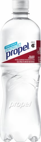 Propel Water Zero Calorie Sports Drinks Enhanced with Electrolytes Vitamins C & E - Black Cherry Perspective: front