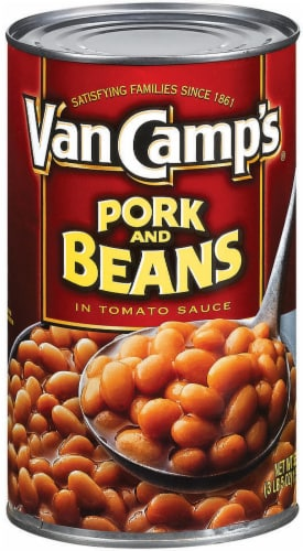 Van Camp's Pork & Beans In Tomato Sauce Perspective: front