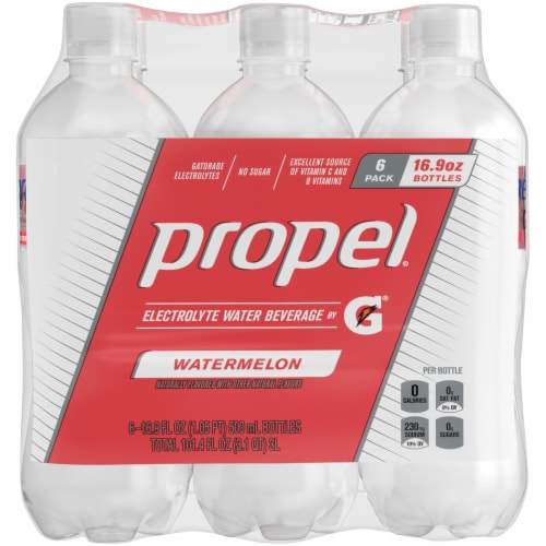 Propel Water Zero Calorie Watermelon Sports Drink Enhanced with Electrolytes Perspective: front