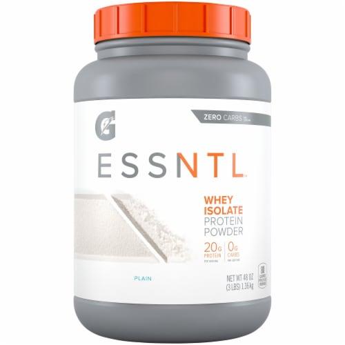 Gatorade ESSNTL Plain Whey Isolate Protein Powder Perspective: front