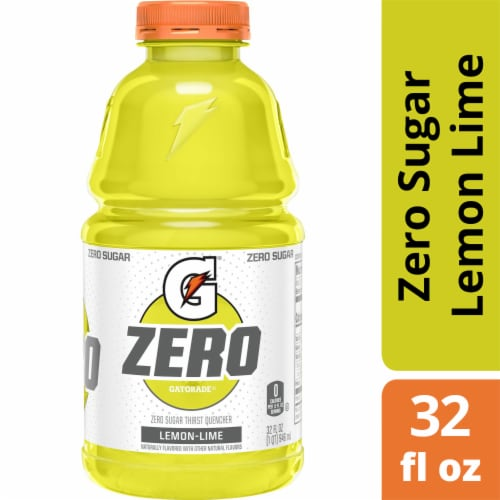 Gatorade G Zero Sugar Lemon Lime Electrolyte Enhanced Sports Drink Perspective: front