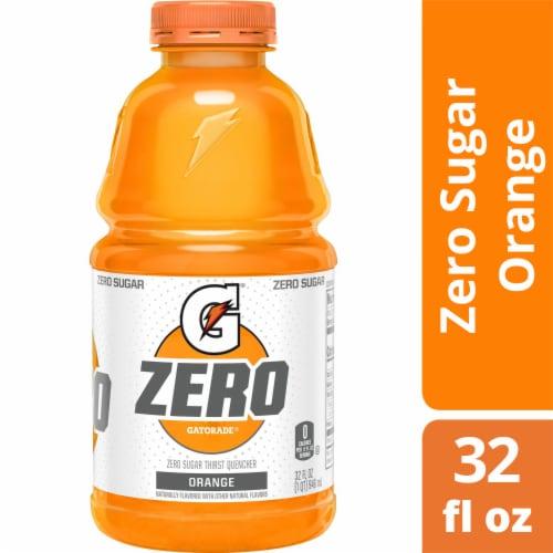 Gatorade G Zero Sugar Orange Electrolyte Enhanced Sports Drink Perspective: front