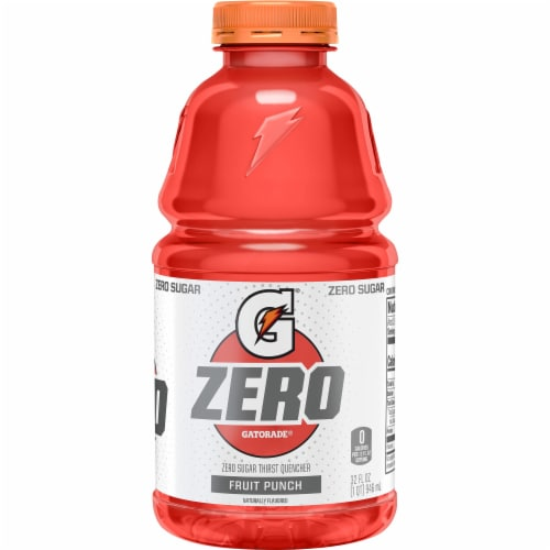 Gatorade G Zero Sugar Fruit Punch Electrolyte Enhanced Sports Drink Perspective: front