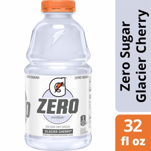 Gatorade G Zero Sugar Glacier Cherry Electrolyte Enhanced Sports Drink Perspective: front