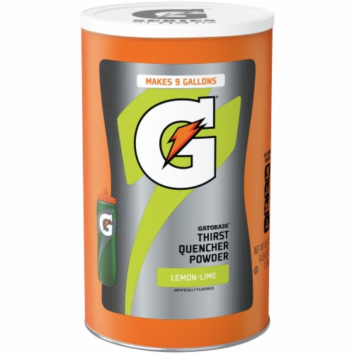 Gatorade Lemon Lime Thirst Quencher Powder Perspective: front